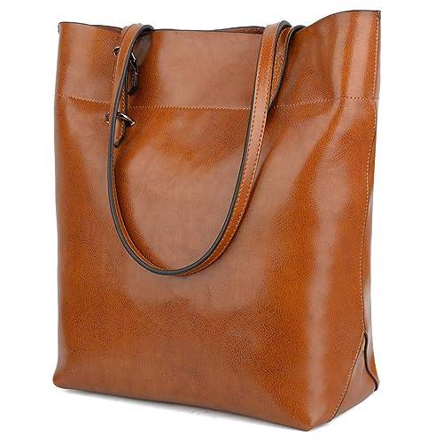 YALUXE Women s Soft Leather Work Tote Shoulder Bag (Upgraded ... ffb89ef5de8c0