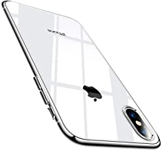 TORRAS Clear iPhone X Case, [Precisely for iPhone X ONLY], Anti-Yellow Slim Thin Soft Protective Transparent TPU Gel iPhone X Phone Case Cover Shockproof - Pure Clear