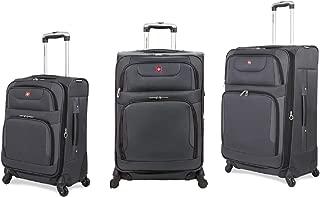 SWISSGEAR 7297 3 Piece Luggage Set Color: Gray/Black