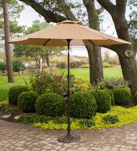 Hanover P MONACOUMB Tiltable Monaco Furniture Collection, 9-Feet Outdoor Umbrella, Porcelain