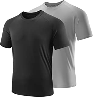 OLENNZ Mens Workout Shirts Short Sleeve Quick Dry Athletic Crew T Shirt for Men