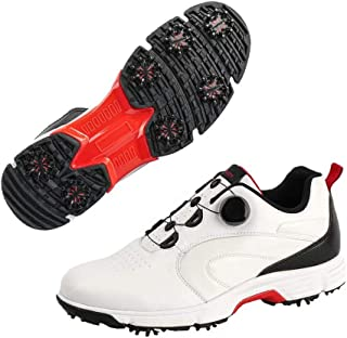 Men Golf Shoes Professional 7-Spikes Golf Sport Sneakers Microfiber Leather Golf Outdoor Shoe