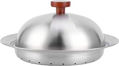 Panier à vapeur, plaque de cuisson à la vapeur en acier inoxydable avec couvercle pour pot de 24 à 28 cm 8,3 x 2,2 po