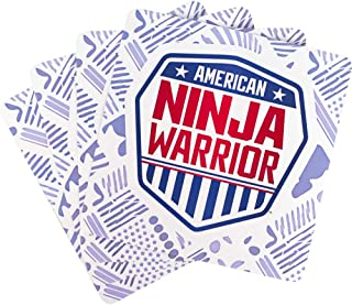 American Ninja Warrior Official Shield Stickers - Set of 4 - Easy Peel - Perfect for Parties
