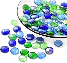 Decorative Glass Pebbles Stones Beads Rounded Gems by ARSUK/® 100pcs//500grams Green Pebbles Stones