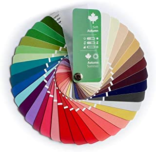 Compact Color Swatch Fan Soft Autumn with 35 Colors for Color Analysis and Image Consulting