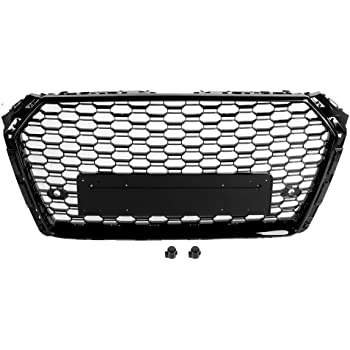 Xinshuo ABS Wabenart Mesh K/ühlergrill vorne f/ür RS4 Style A4 S4 B9 2017-2018