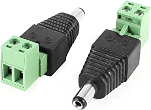X-Dr 2 Pcs CCTV Camera 5.5mm x 2.1mm DC Male Power Connector Black Green (7c55439c-a222-11e9-8d7c-4cedfbbbda4e)