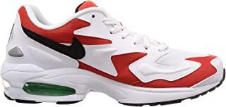 Mens Air Max2 Light White/Black-Habenero Synthetic