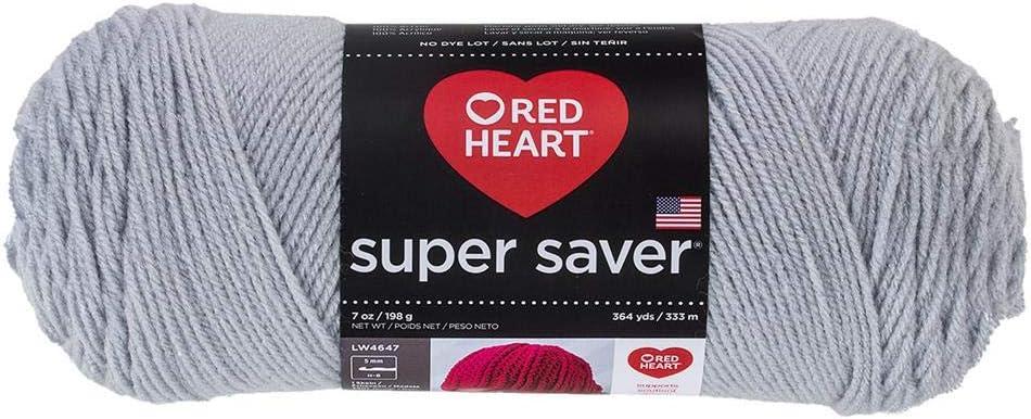 Red Heart Super Saver Grey Light Memphis Mall 341 Daily bargain sale Yarn