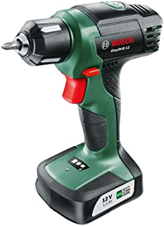 comprar comparacion Bosch EasyDrill 12 - Taladro atornillador a batería (12 V, con batería integrada, Cargador, Punta de destornillador)