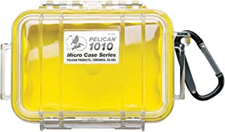 Pelican Waterproof Case | Pelican 1010 Micro Case - for cell phone, GoPro, camera, and more (Yellow/Clear)