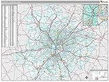 MarketMAPS Atlanta, GA Metro Area Wall Map - Laminated 48x64