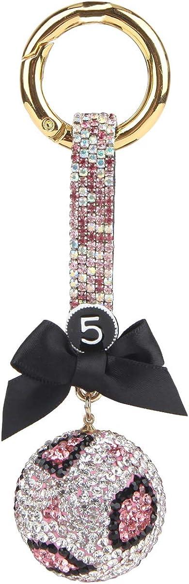 Fawziya Key Chain Women Bow Crystal Ball Keychains