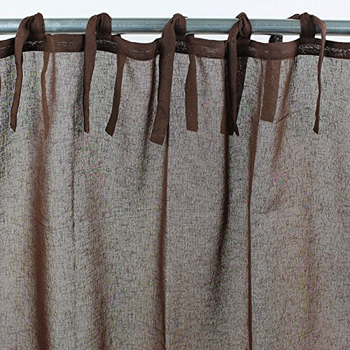 Thedecofactory 116258 Voilage Polyester, Chocolat, 110 x 250 x 3 cm