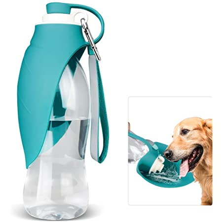 Dog Water Bottle for Walking, TIOVERY Pet Water Dispenser Feeder Container portable with Drinking Cup Bowl Outdoor Hiking, Travel for Puppy, Cats, Hamsters, Rabbits and Other Small Animals 20 OZ