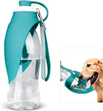 Dog Water Bottle for Walking, TIOVERY Pet Water Dispenser Feeder Container portable with Drinking Cup Bowl Outdoor Hiking,...