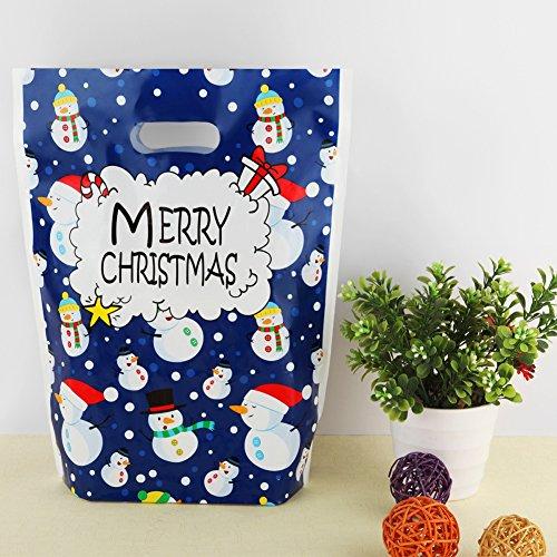 Yehapp 3 pezzi 6 pezzi 9 pezzi 12 pezzi calze natalizie borsa nastro borsa con coulisse borsa decorazione natalizia borsa regalo decorazioni per la casa