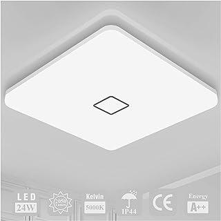 Plafonnier LED Luminaire Salle de Bain Öuesen Lampe Plafond 24W 2050LM IP44 5000K Blanc Froid Brillant Moderne Plafonnier ...