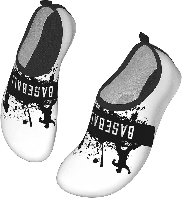 QIEARA Baseball Water Shoes, Barefoot Quick Dry Aqua Socks for Beach Swim Surf Yoga Exercise, Womens and Mens