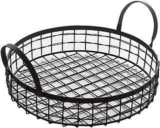 Panier de paniers de Rangement en métal pour Organisateur de Nourriture avec poignées pour armoires de Cuisine, Garde-Mang...