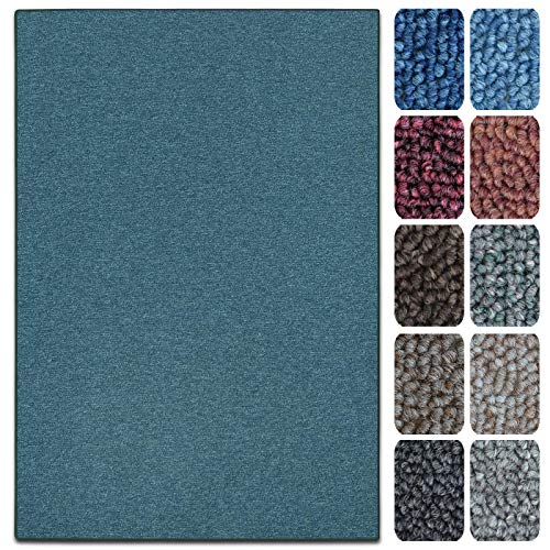 casa pura Teppich London | viele Größen | pflegeleichter Flacher Schlingenflor | Flurteppich, Wohnzimmerteppich, Küchenteppich, Schlafzimmerteppich (Grün - 100x150 cm)