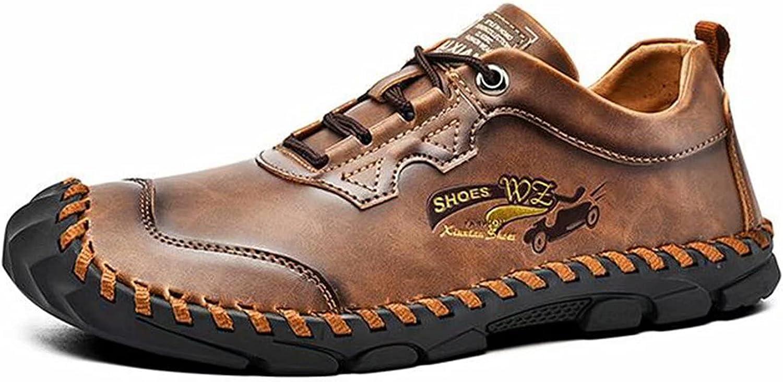 FeiZhi Dress Shoes Men Shoes, Lather Men Loafer Vintage Flat Shoes Driving Style