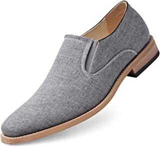 GOLAIMAN Men's Slip-On Loafers Classic Casual Canvas Business Shoes