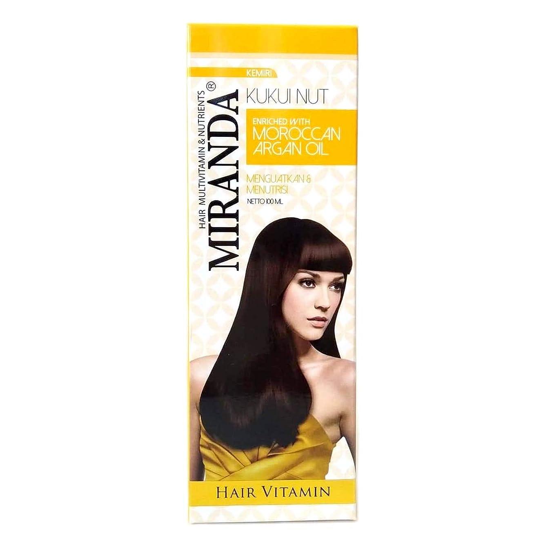 ツールシーケンススキームMIRANDA ミランダ Hair Vitamin ヘアビタミン モロッカンアルガンオイル主成分の洗い流さないヘアトリートメント プッシュボトル 100ml Kukui nut クミリ [海外直送品]