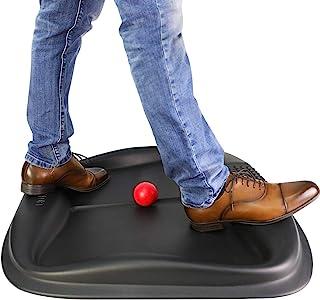 Homfort HF-SFM01 Anti Fatigue Standing Desk Mat with Built-in Acupuncture Balance Bar & Massaging Roller Ball, Not-Flat Ergonomics Surface, Fit for Any Standing Desk, 30 x 28 inch, Black