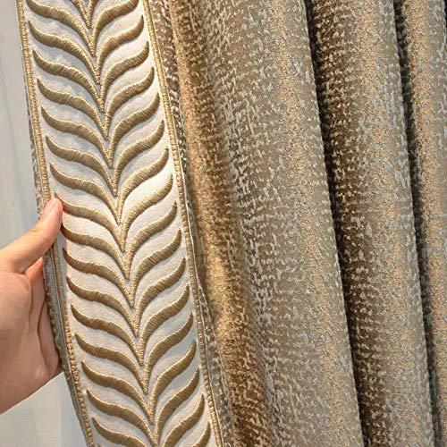 Gardinen Verdunklung Vorhänge Für Wohnzimmer Reiskorn Jacquard Shading Simulation Seidenvorhang Physische Shading Vorhänge-Vorhang_W500cmxh250cm_Grommet Top