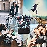 Ela Mo's Rucksack Damen | Schön und Durchdacht | für Uni Reisen Freizeit Job | mit Laptopfach & Anti Diebstahl Tasche | Blumen - 3