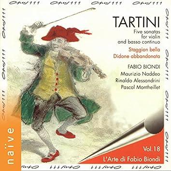 Tartini: Five Sonatas for Violin and Basso Continuo (L'arte di Fabio Biondi, Vol. 18)