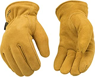 Kinco - 81, Buffalo Leather Work Gloves for Men Kinco's Toughest & Durable with Nikwax Waterproofing (Large) 1 pair