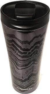Starbucks Black Wavy Lines Stainless Steel Tumbler, 16 Fl Oz