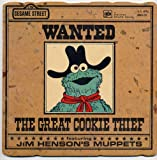 A Golden Shape Book: WANTED THE GREAT COOKIE THIEF by Emily Perl Kingsley (FEATURING JIM HENSON'S MUPPETS CTW Sesame Street Softcover 1982)
