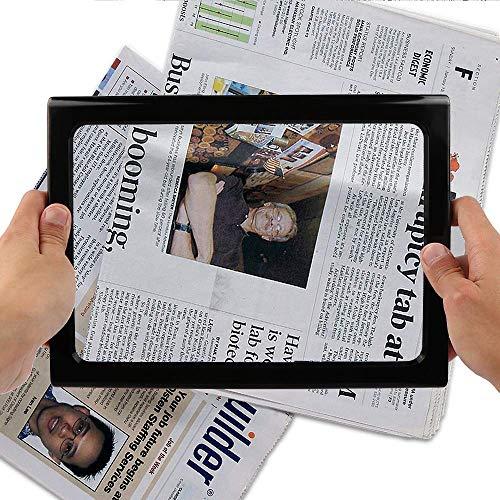 Leselupe mit licht für Senioren Groß, Nakeey Lupe mit Licht Beleuchtet Leselupe zum Lesen für Beste Handlupe Vergrößerungsglas für Senioren lesen, Kleingedruckten