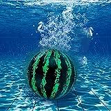 OUMDON Bolas de sandía – Balón de Piscina, Globo Hinchable Arco Iris de 9 Pulgadas con Adaptador de Manguera, se llenan de Agua para pases submarinos y Dribbles (Green)