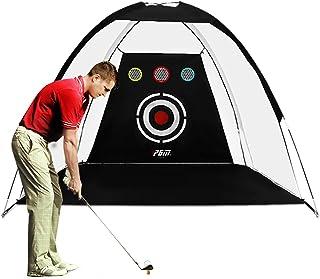 PGM Golf Net / 10x6x6.6 فوت تمرین تمرین / ضربه زدن و خرد کردن وسایل کمکی برای آموزش گلف داخل و خارج / قابل حمل با کیف دستی و توپ های گلف