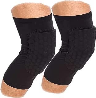 Lasguard Knee Pad Basketball/Volleyball, Knee Pad Work, Knee Pads Running Kneepad Hex, Knee Pad Tights for Men, Girls, Work,Riding, Adult, Gardening Kneepad - M/L/XL(1 Pair)