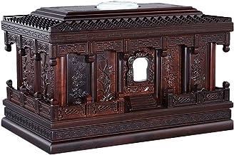 JCCOZ-URG Plum, Orchid, Bamboo, Chrysanthemum Pattern Black Rosewood, Status Symbol,Ashes Altar Moisture-Proof Box Keepsak...