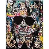 ZQXXX Karl Lagerfeld Graffiti Wandkunst Leinwandbilder
