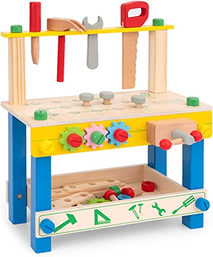 popular ROBUD new arrival new arrival Kids Tool Bench Small Wooden Toy Workbench Play Work Bench Workshop Pretend Play Construction Toy Building Tools Set for Toddlers outlet sale
