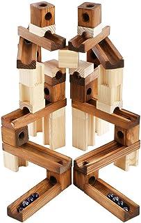 ビー玉転がし 60PCS 積み木 木製 立体パズル スロープ おもちゃ組み立て 男の子 女の子 贈り物 誕生日 クリスマス プレゼント …