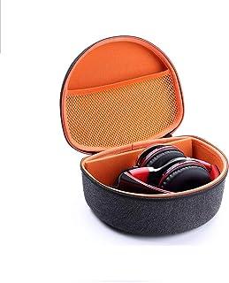 Esimen Headphone Case for Beats Solo2 / Solo3 Sennheiser HD 4.40 BT/HD 4.50 BTNC Wireless Headphone Carrying Bag Box (Gray+Orange)