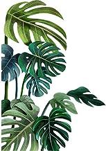 Gigicloud Vinilo decorativo para pared, diseño de hojas tropicales, hojas de eucalipto, hojas de vid de eucalipto, extraíb...