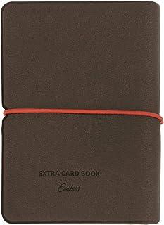Funda de piel sintética para tarjetas de crédito, para hasta 30 tarjetas de crédito, con banda de goma estable (marrón)