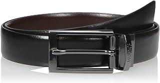 حزام Elvio-u الرجالي من الجلد الإيطالي ذو الوجهين من Hugo Boss
