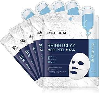 MEDIHEAL Official [Korea's No 1 Sheet Mask] - Brightclay Meshpeel Mask (5 Masks)