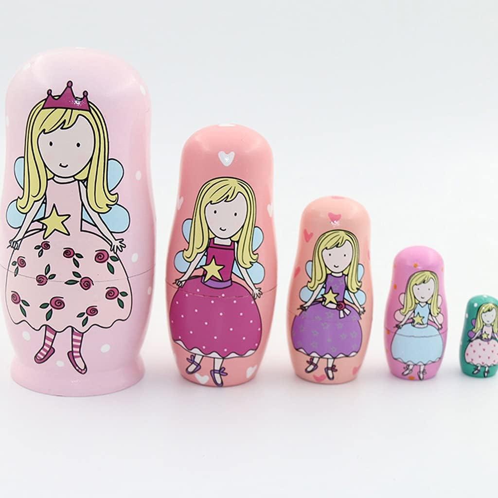 zdz Handmade Matryoshka,4.6 Inchs Solid Se Children's Max 62% OFF Toy Alternative dealer Wood